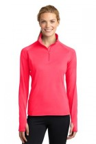 Sport-Tek Ladies Sportwick Stretch 1/2 Zip Pullover
