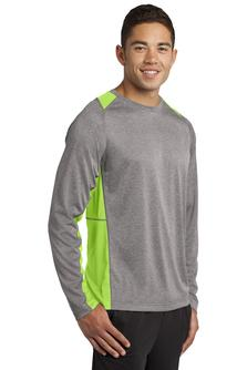Sport-Tek Long-Sleeve Heather Colorblock Contender Tee