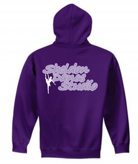 50/50 Purple Glitter Hoodie