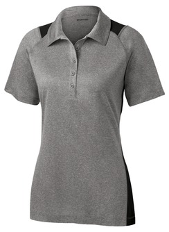 Ladies Sport-Tek Heather Colorblock Contender Polo