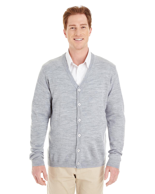 Harriton Men's Pilbloc™ V Neck Button Cardigan Sweater