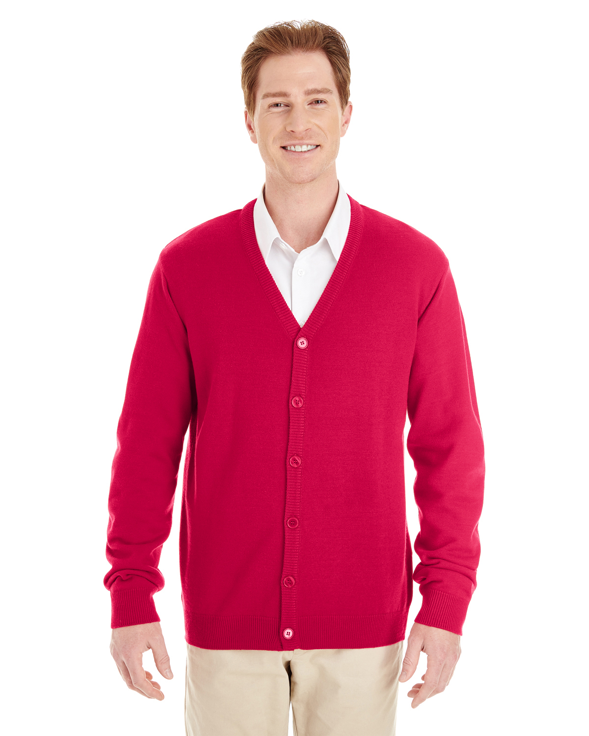 Harriton Pilbloc V-Neck Button Cardigan Sweater M425